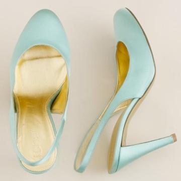 Prachtige schoenen voor een #bruiloft met #bruiloftthema #aqua