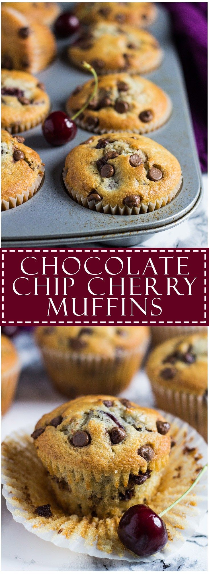 Chocolate Chip Cherry Muffins | Marsha's Baking Addiction
