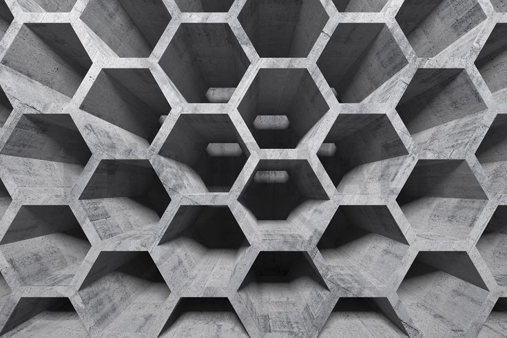 3D Honeycomb Structure - Wall Mural & Photo Wallpaper - Photowall