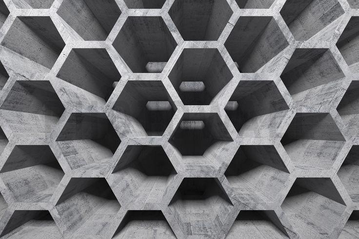3D Honeycomb Structure - Wall Mural & Photo Wallpaper - Photowall