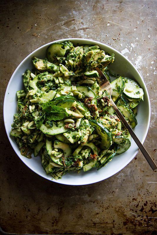 Chicken, Zucchini and Pesto Salad