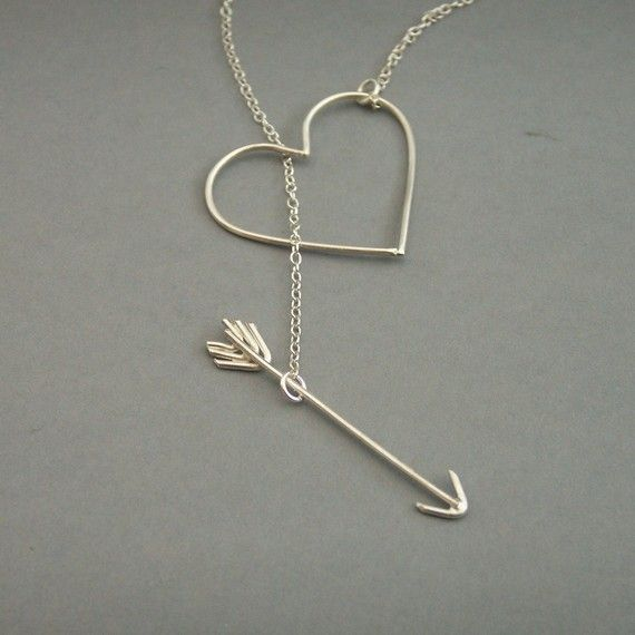 $55 love it: Diy Ideas, Silver Necklaces, Style, Heart Jewelry, Heart Necklaces, Arrow Necklace, Accessories, Valentines Day Gifts, Arrows Necklaces