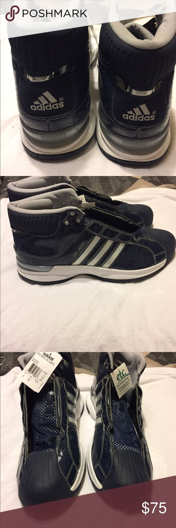 Men's Adidas Brand new never worn with original tags size 16 men's Adidas basketball shoes. Pro Model 08. Missing shoe strings. Adidas Shoes Athletic Shoes