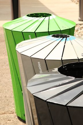 Landor, a New York branding firm, helped develop a new waste and recycling system for Central Park with a trio of ecofriendly trash and recycling bins. Designs for the receptacles were inspired by the visual vernacular of the park. Click image for details  visit our Street Furniture board  http://www.pinterest.com/slowottawa/street-furniture/