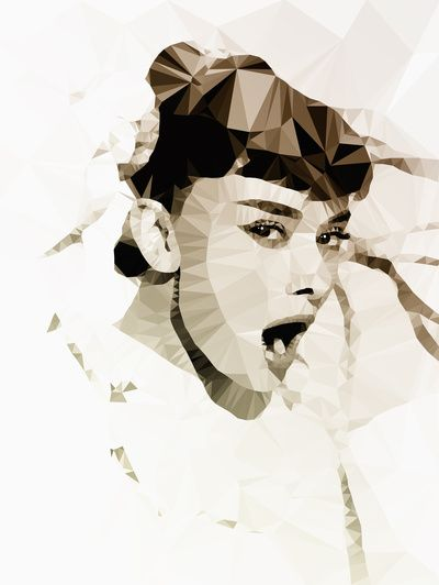 Audrey Hepburn | Polygon Art
