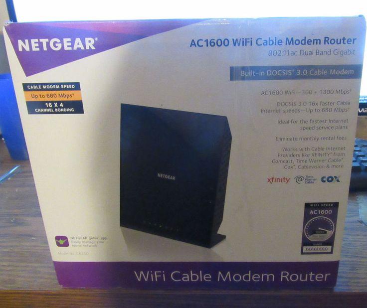 Netgear Ac1600 Wifi Cable Modem Router #NETGEAR