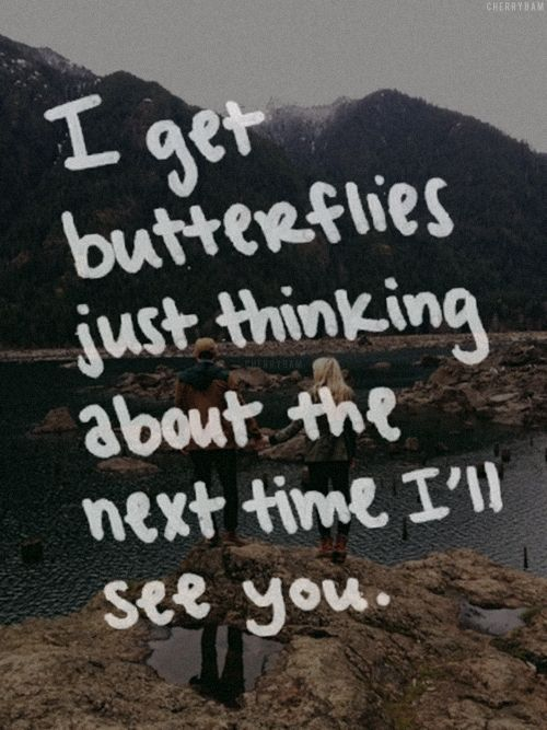 #SGWeddingGuide : I get butterflies just thinking about the next time I'll see you. | SGWeddingGuide.com