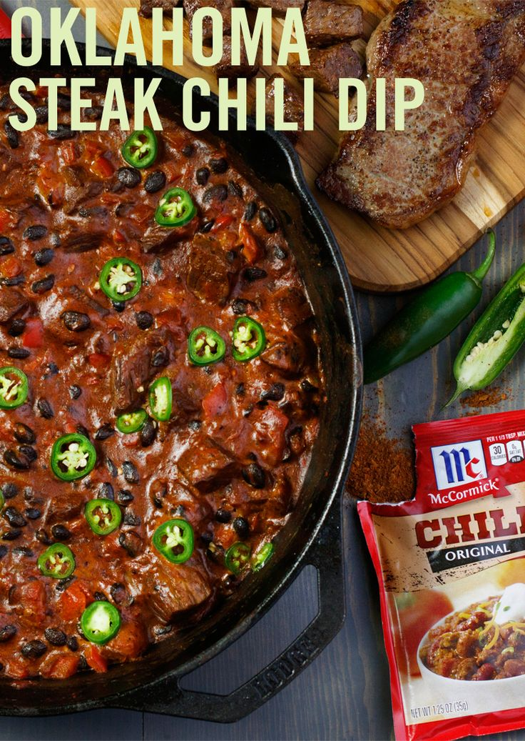 Celebrate the cowboy culture with big, bold taste. This chili dip recipe is packed with hearty flavors that work double-duty on game day appetites, including savory beef sirloin, melted cheese and Chili Seasoning Mix.