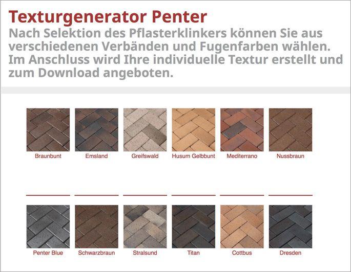 Lovely Pflasterklinker sind ideal f r die Gestaltung von Wegen im Garten Der Texturgenerator f r Penter