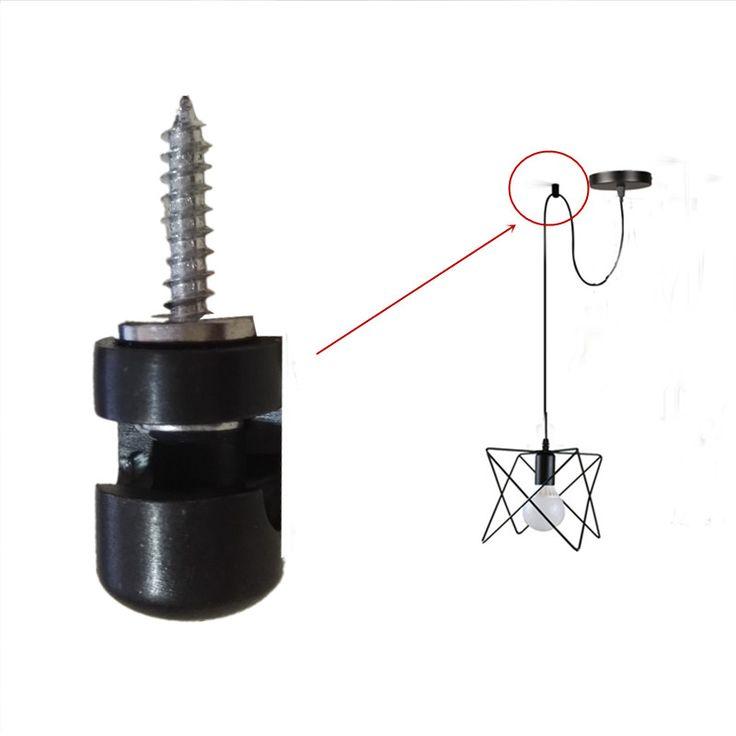 Кабельный зажим Провода крюк силикагель металлическое железо материал для длинный провод подвесной светильник DIY частей купить на AliExpress