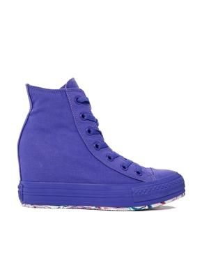 Image 1 ofConverse Chuck Taylor All Star Wedge Purple Trainers