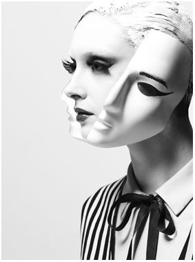 .: Split Personalized, Segunda Faces, Two Faces, Split Masks, Unknown Photographers, The Faces, Art, Bw Photo, Photography