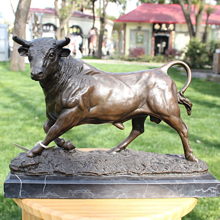 Испанский бык медь бронзовая скульптура рукоделие дома бизнес подарок украшения