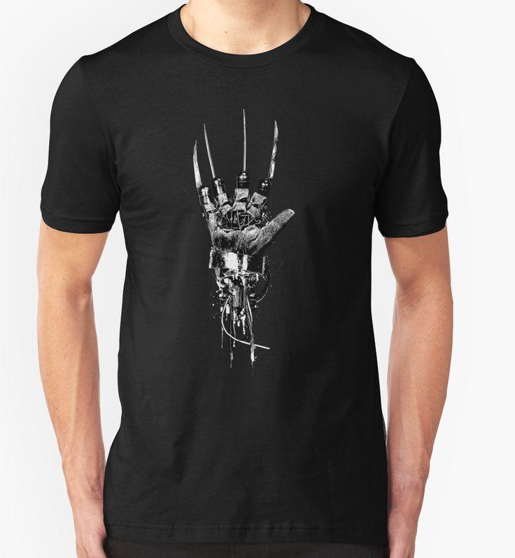 'Freddy Krueger | Steampunk Claw' T-shirts / Hoodies. Click the image to BUY at Redbubble. #freddykrueger #nightmareon elmstreet #dreamwarrior #glove #claw #horror #80s #punk #goth #scary #dark #steampunk #streetart #tee #tshirt
