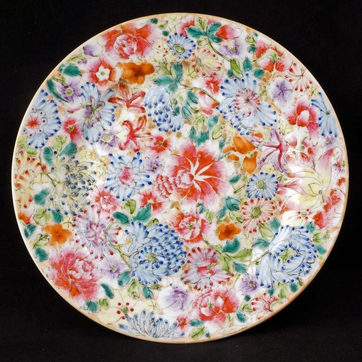 Republic Period Chinese porcelain thousand flowers design