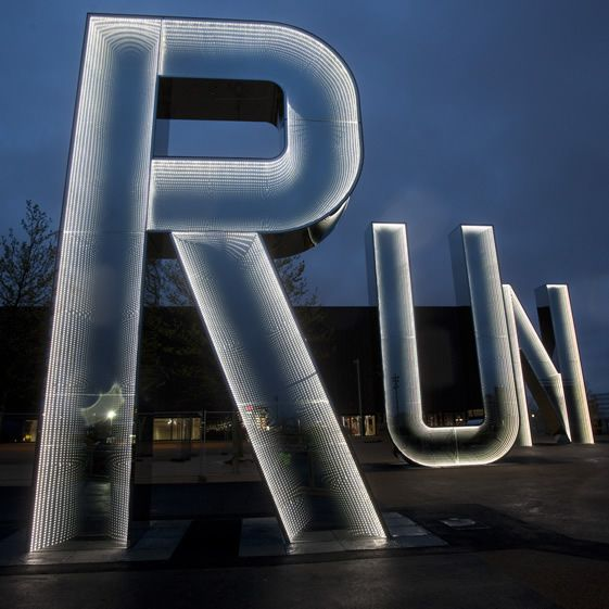 Berlin-based artist Monica Bonvicini's Run at the Olympic park