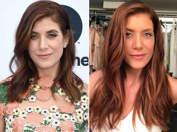 #KateWalsh with a brighter auburn hue by celeb stylist Chad Wood added extensions for length and colorist Tracey Cunningham refreshed Walsh's color. #hair #haircolor #GreysAnatomy