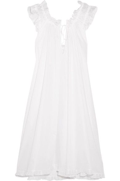 Three Graces London - Iris Cotton-voile Nightdress - White - UK14