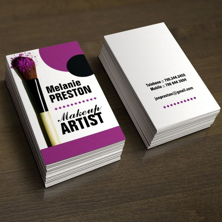 makeup artist business cards - photo #2