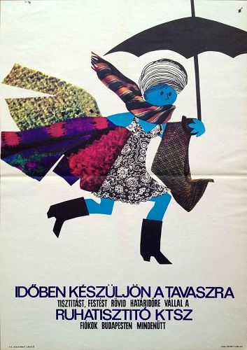 Prepare for spring, dry cleaning advert. Hungary, 1960s