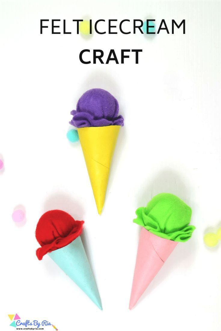 Ice cream cone craft-Very Easy and cute