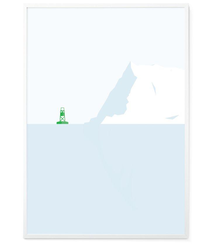 Green buoy MInimalist Print for Kids decor – Egan and Well