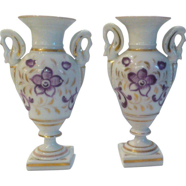 Vieux Paris Vases circa 1870