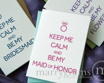Popular items for cute bridesmaid card on Etsy