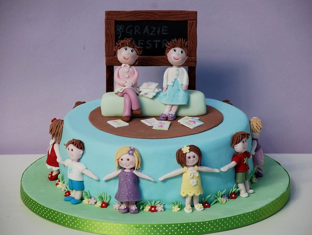 Thanks teachers! - Grazie maestre! by Alessandra Cake Designer, via Flickr
