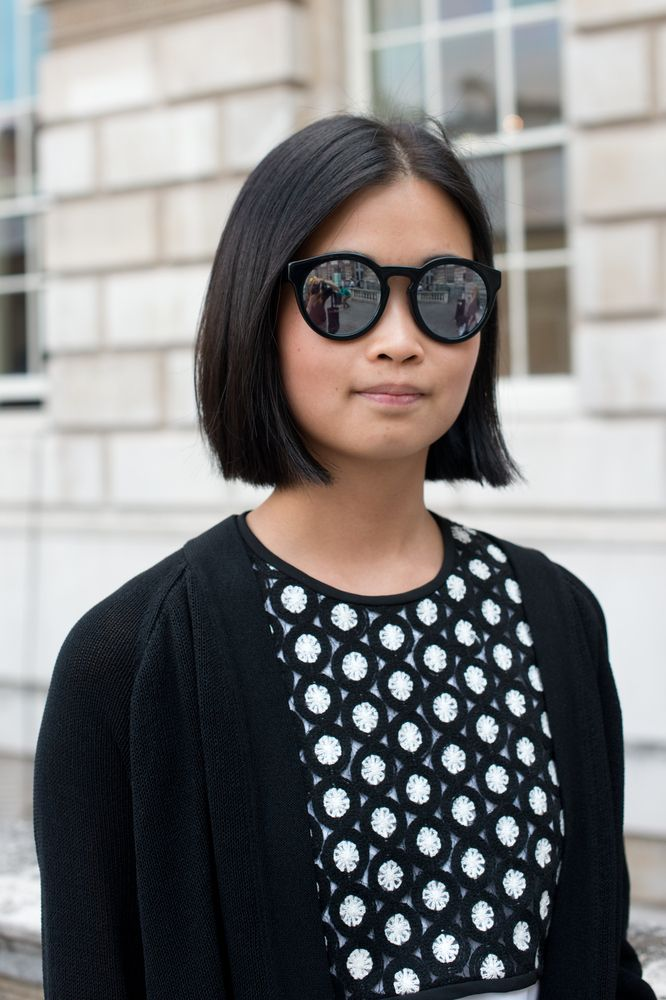 Blunt bob greatness -- London Fashion Week Beauty Street Style