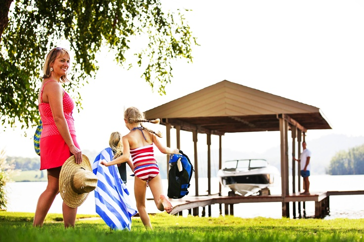 The arrival of warm weather means it's time to pack up and head to the water! #family #summer