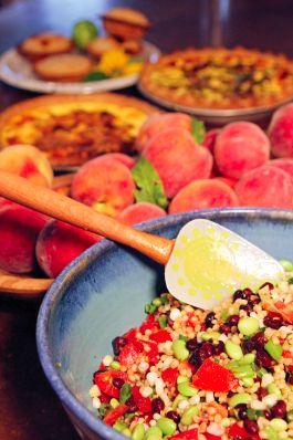 Black bean, edamame and wheatberry salad. #healthy #snack #recipe