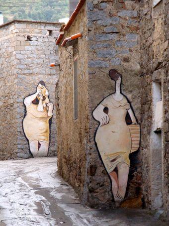 in Orgosolo, Sardinia, Italy.