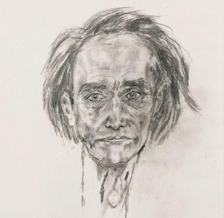Antonin Artaud (1896 - 1948) - Self-portrait, 11 mai 1946. Pour exister, il suffit de se laisser aller à être, mais pour vivre il faut être quelqu'un, et pour être quelqu'un, il faut avoir un OS, ne pas avoir peur de montrer l'os, et de perdre la...
