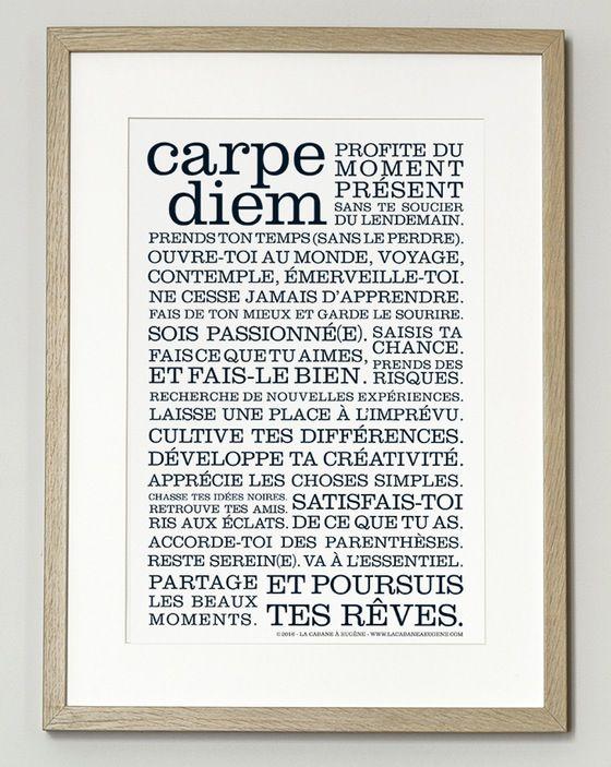 Image of *NOUVEAUTÉ*  Affiche Carpe Diem