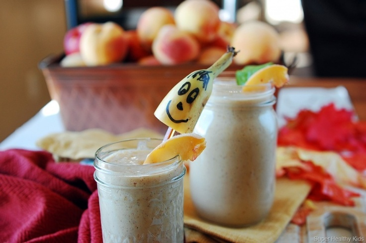 Healthy Smoothie of the day.  peach smoothie for kids. Goes Perfect in the…