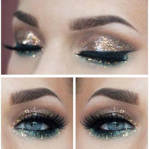 Glitter-maybe a tad too much but I still like this look for the most part (: