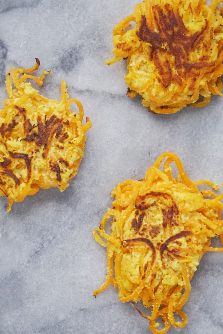 These delicious spiralized butternut squash fritters are the perfect appetizer or side. They're gluten-free, grain-free, dairy-free and free of refined sugar.