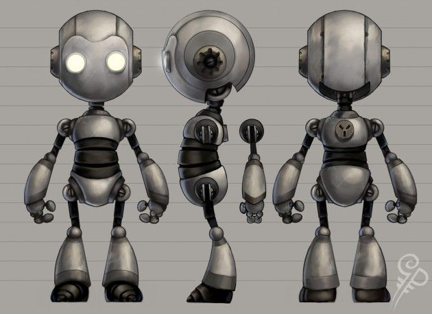Blender Character Modeling Template : Robot model sheet attached images sheets