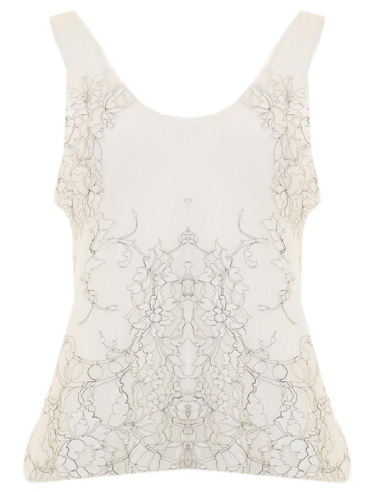 Blusa off-white em seda com renda. - Descubra as últimas tendências da moda no lookmoderno.com.br