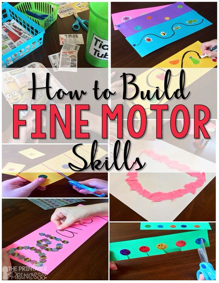 Ideas and tips for building fine motor skills.