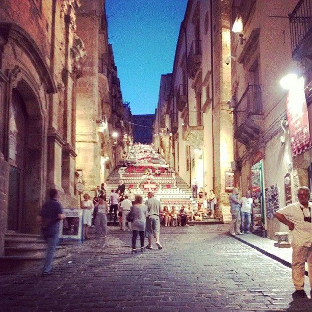 La scalinata di Caltagirone con i lumini - Foto del 14 Agosto 2013
