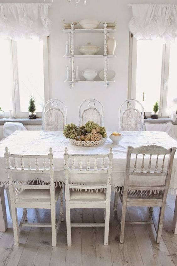 Shabby Chic White, Shabby Chic Dining, Shabby Chic Rooms, Chabby Chic, Shabby  Chic Decorating, Decorating Ideas, Decor Ideas, Cottage Style, Junk Chic ...