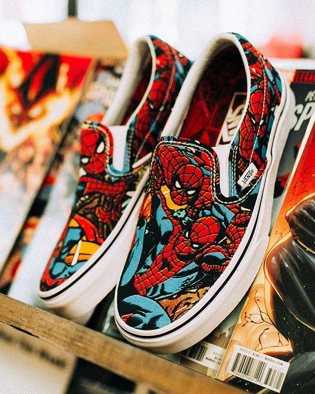 MARVEL × Vans Old Skool、Slip-On、Sk8-Hi | Marvel shoes, Vans ...