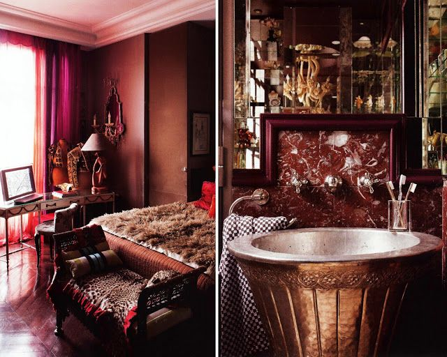 17 best images about hotel interior on pinterest sarah for Purple and gold bathroom ideas