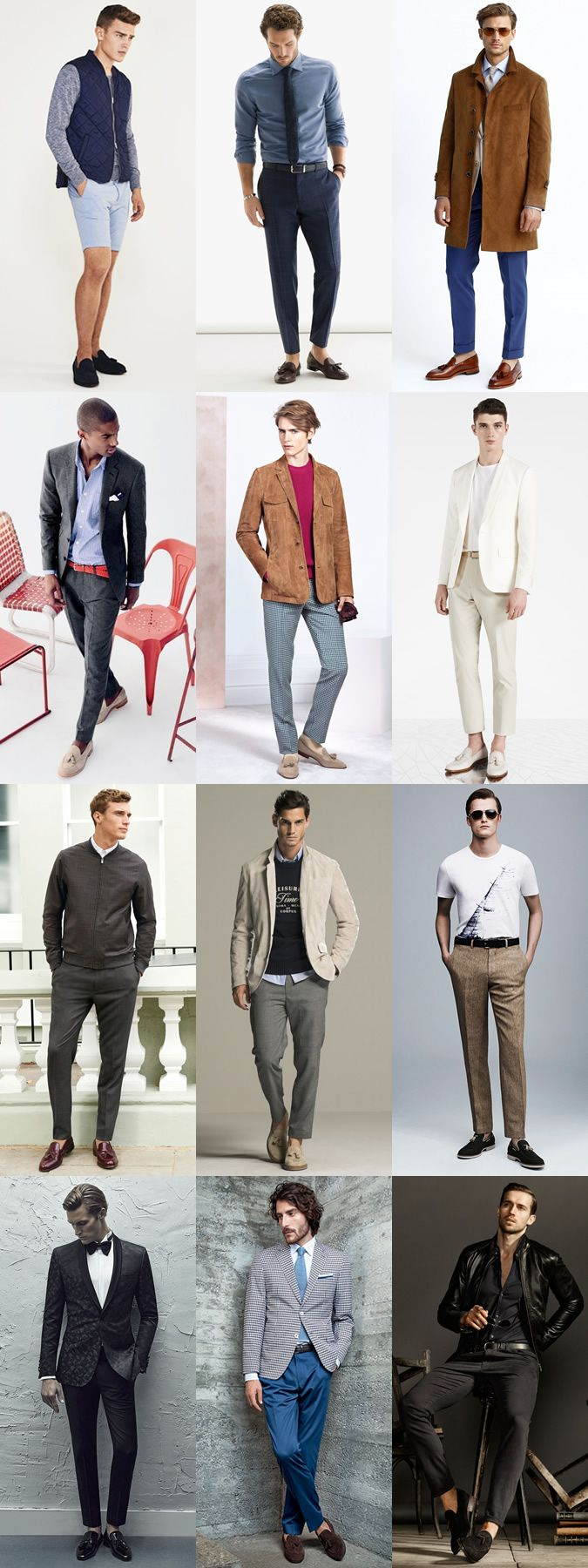 Men's Tassel Loafers Outfit Inspiration Lookbook