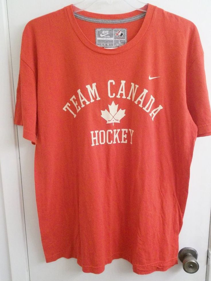 Nice Nike Team Canada Hockey T-Shirt Adult L Large New with Tags #Nike #TeamCanada
