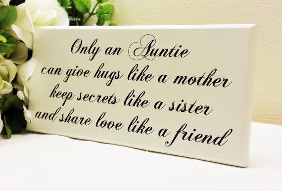 Aunt Gift Sister Gift Only An Auntie Can by Handmadeskproducts
