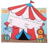 printable circus party invitation.  http://www.make-your-own-invitations.com/make-circus-party-invitations.html