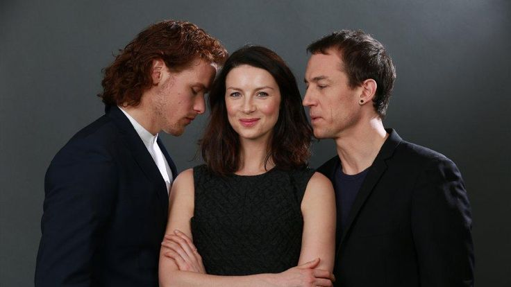 """New interview of Sam Heughan, Caitriona Balfe and Tobias Menzies with LA Times From LA Times The first season of the Starz historical romance epic """"Outlander,"""" based on the novels by Diana Gabaldon…"""